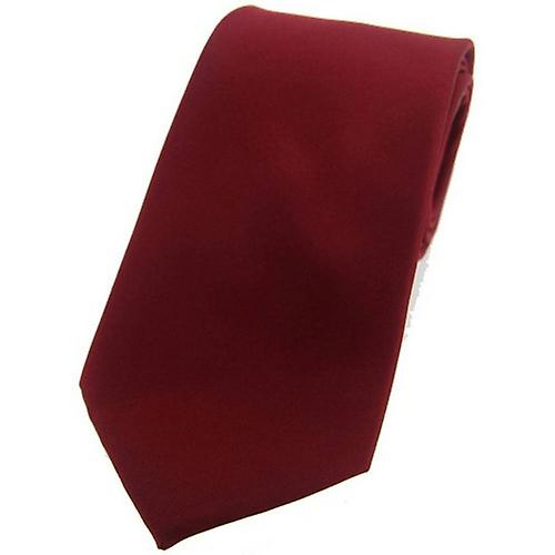 David Van Hagen Satin Silk Tie - Wine