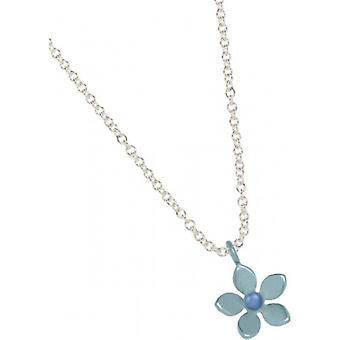 Ti2 Titanium 13mm Five Petal Flower Pendant - Sky Blue