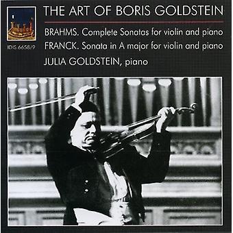 Brahms / Franck - kunst af Boris Goldstein [CD] USA import
