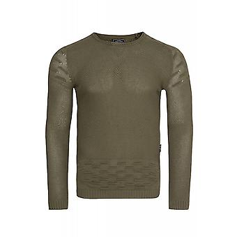 CARISMA knit sweater mens knitted sweater khaki slim fit