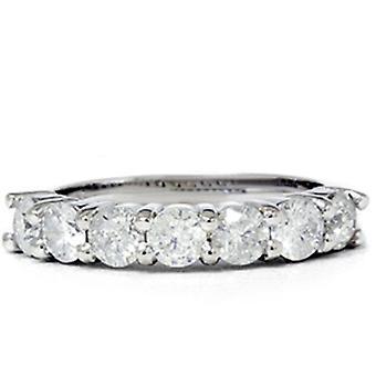 2 1/10 КТ огромные настоящий алмаз обручальное кольцо годовщины 14K
