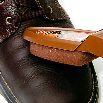 Caraselle Boston Max Brown Shoe Shine Sponge in a Handy Compact Case