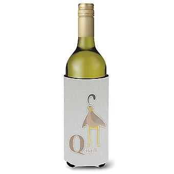 Alphabet Q für Wachteln Weinflasche Beverge Isolator Hugger