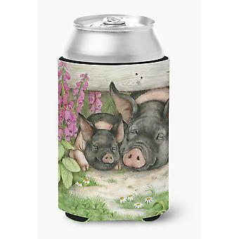 Pigs Under The Fence by Debbie Cook Can or Bottle Hugger