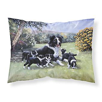 Border Collie Puppies with Momma Fabric Standard Pillowcase
