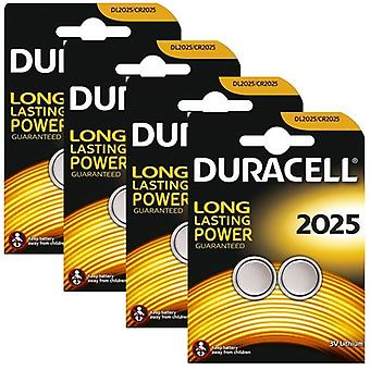 8 x Duracell CR2025 3V al litio Coin Cell Battery 2025, DL2025, BR2025, SB-T14