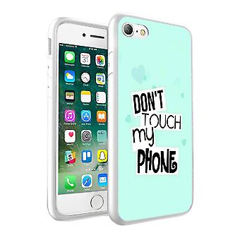 i-Tronixs Sony Xperia XZ Dont Touch My Phone Design Printed Case Skin Cover - 029