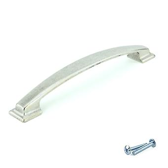 M4TEC Bow Kitchen Cabinet Door Handles Cupboards Drawers Bedroom Furniture Pull Handle Antique Silver V7 series