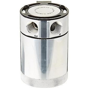 Mishimoto MMBCC-MSTWO-P Silver Baffled Oil Catch Can (Compact, 2-Port, Polished)