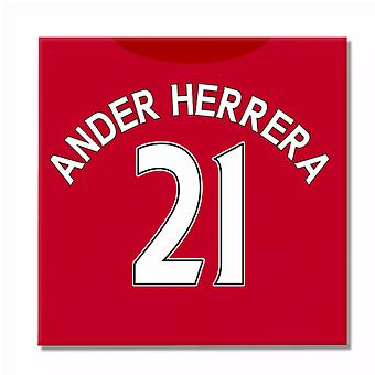 2016-2017 Man United Canvas Print (Ander Herrera 21)