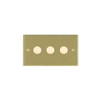 Hamilton Litestat Hartland Satin Brass 3g 250W Multi-Way Dim SB
