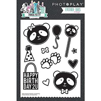 Photo Play Paper Etched Dies-Cake Panda Party CPP2917