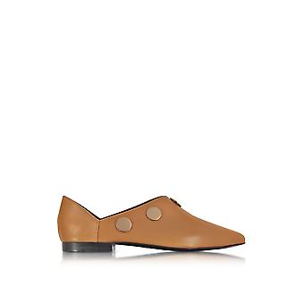 Pierre Hardy women's ML09CAMEL brown leather moccasins