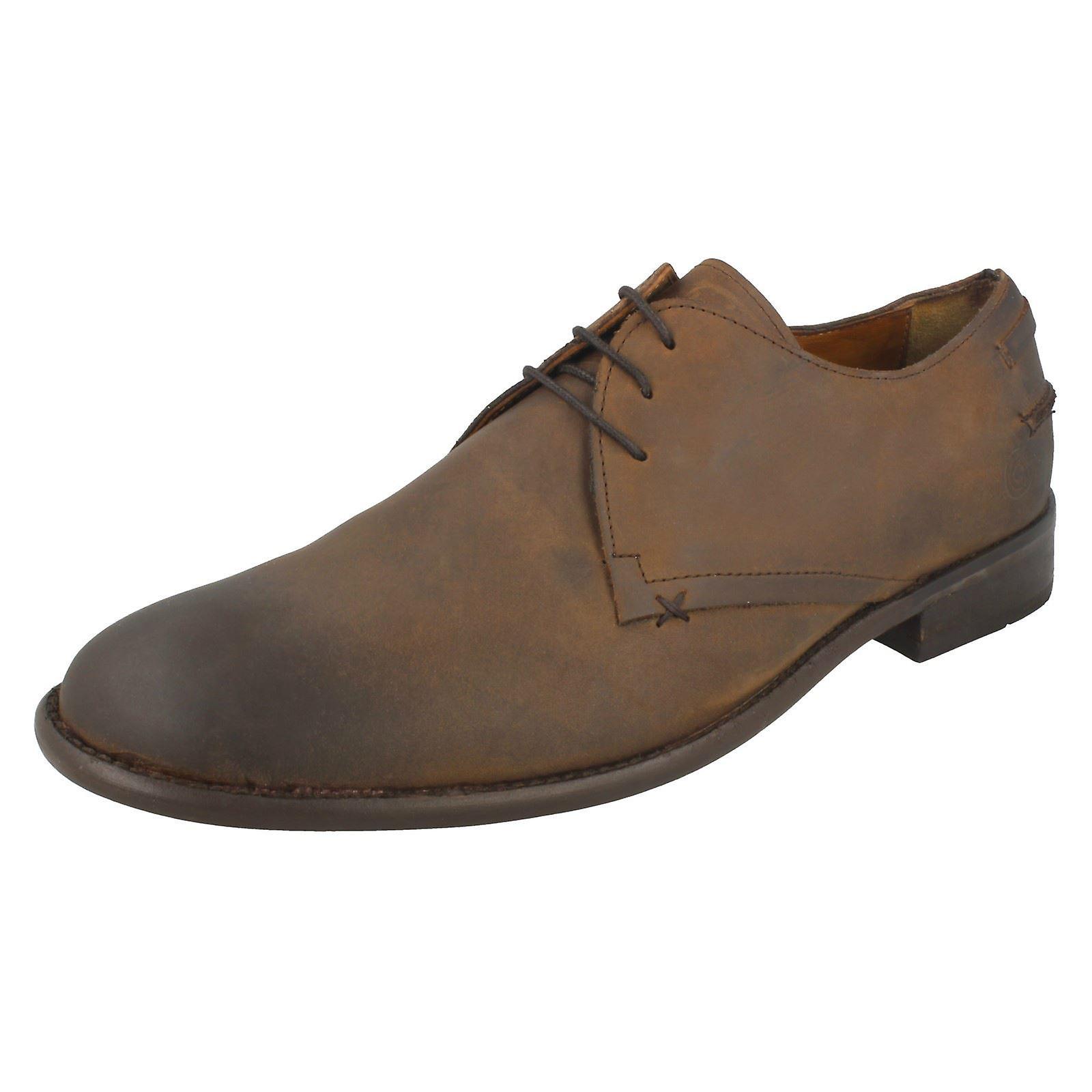 Mens Lambretta Brogue Stil Schuhe - Cuero Leder - UK Größe 10 - EU Größe 44 - US Größe 11