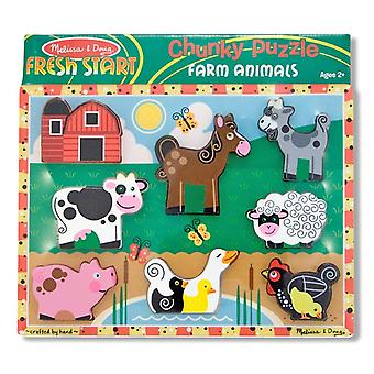 Melissa & Doug Farm Animal Puzzle grube