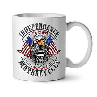 Independence Eagle NEW White Tea Coffee Ceramic Mug 11 oz   Wellcoda