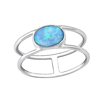 Oval - 925 Sterling Silver Jewelled Rings