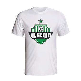 Algérie Pays Logo T-shirt (blanc)