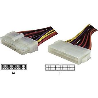 Current Cable extension [1x ATX power plug 20-pin - 1x ATX power socket 24-pin.]