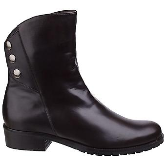 Riva Womens/Ladies Buttons Leather Ankle Boots