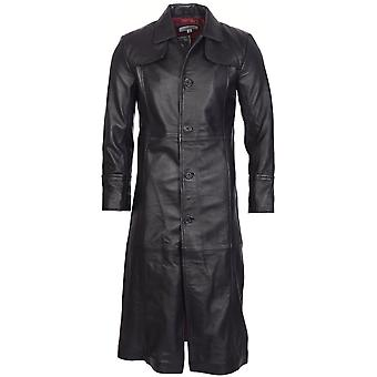 Attitude Clothing Full Length Leather Trench Coat