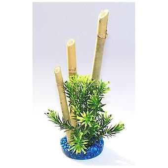 Sydeco Bamboo Plant S/Blue (Fish , Decoration , Artificitial Plants)
