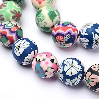 Strand 30+ Mixed Polymer Clay 12mm Plain Round Beads HA24180