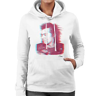 Sid Vicious Close Up With Beer Pink Women's Hooded Sweatshirt