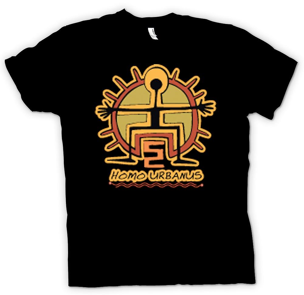 Kinder T-shirt-Homo Urbanus Caveman Design