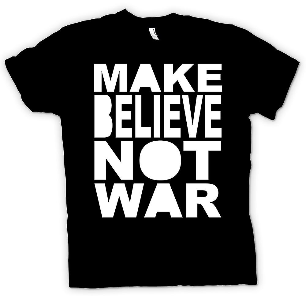 Mens T-shirt - Make Believe Not War - Funny
