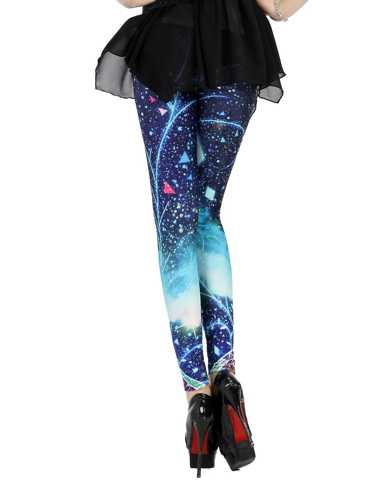 Waooh - mode - legging lange fantasy - abstract blue