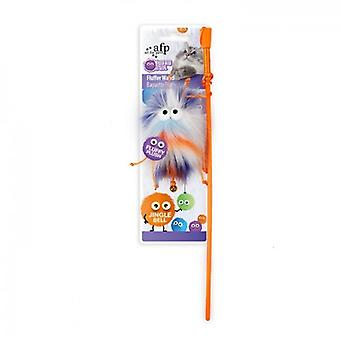 AFP Varita Fluffer Naranja Furry Ball (Cats , Toys , Teaser Wands)