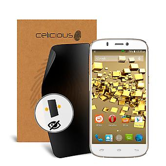 Celicious Privacy 2-Way Visual Black Out Screen Protector for Micromax A300 Canvas Gold