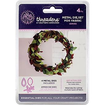 Crafter's Companion Threaders Metal Fabric Nesting Dies 6Pkg-Leaves