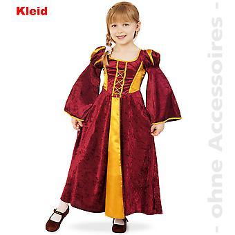 Замок женщина костюм платье ребенка девица дворянки горничная костюм ребенка