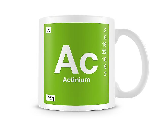 Element Symbol 089 Ac - Actinium Printed Mug