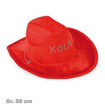 Cowboy hoed rood Keulen hoed