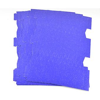 SALE - 10 Purple & Silver Glitter Flecked Card Make & Fill Your Own Crackers