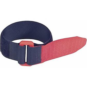 Hook-and-loop tape with strap Hook and loop pad (L x W) 300 mm x 25 mm Black, Red Fastech 688-330KC 2 pc(s)