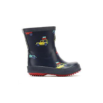 Joules Toddlers Navy Scout And About Print Wellies