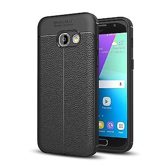 Caso di copertura del telefono cellulare per Samsung Galaxy A7 2017 copertina cornice Pouch Black