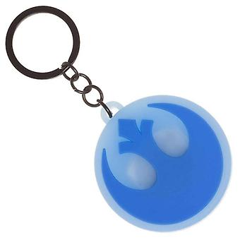 Star Wars Keyring Keychain Rebel Emblem Light Up Logo new Official Blue
