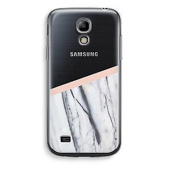 Samsung Galaxy S4 Mini Transparent Case - A touch of peach