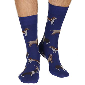 Peder men's combed cotton dress sock in royal | By Scott-Nichol