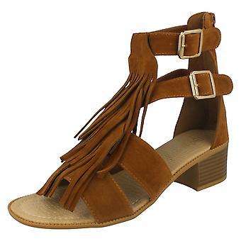 Savannah mujeres franja sandalia tacón F10524
