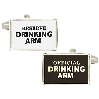 Zennor Drinking Arm Cufflinks - Black/White