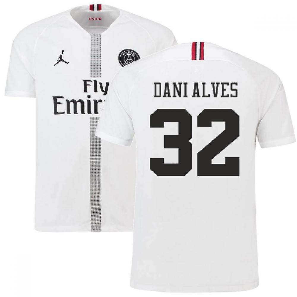 2018-19 PSG Third Shirt White (Dani Alves 32) - Kids