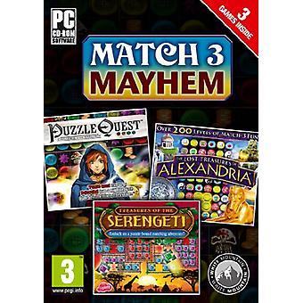Match 3 Mayhem Puzzle Quest Alexandria Serengeti (PC CDROM) - Factory Sealed