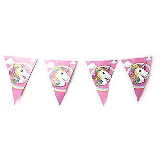 TRIXES 10PC unicorno Bandierina triangolare Bunting Garland per feste di compleanno bambini