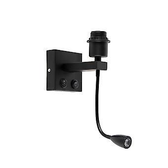QAZQA Modern Wall Lamp Black with Reading Arm - Brescia Combi